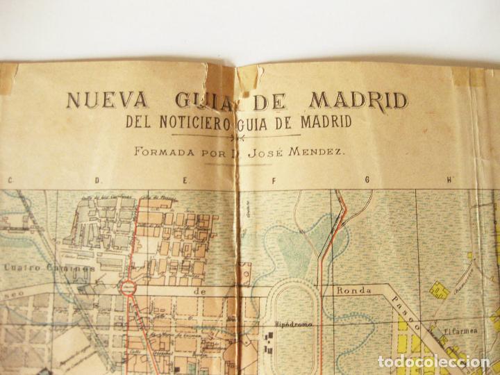 Mapas contemporáneos: PLANO O MAPA. NUEVA GUIA DE MADRID PUBLICADA POR EL NOTICIERO DE MADRID FORMADO POR JOSE MENDEZ 1912 - Foto 2 - 86201452
