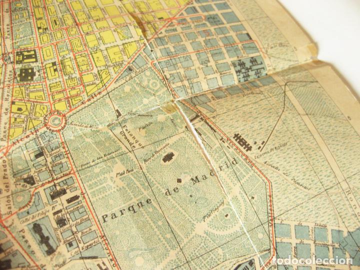 Mapas contemporáneos: PLANO O MAPA. NUEVA GUIA DE MADRID PUBLICADA POR EL NOTICIERO DE MADRID FORMADO POR JOSE MENDEZ 1912 - Foto 3 - 86201452