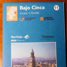 Mapas contemporáneos: MAPAS COMARCALES DE ARAGON - MAPA Nº 11 BAJO CINCA ESCALA 1:70.000 - SIN ESTRENAR. Lote 86756432