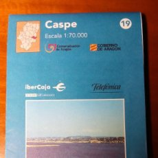 Mapas contemporáneos: MAPAS COMARCALES DE ARAGON - MAPA Nº 19 CASPE - ESCALA 1.70.000 - SIN ESTRENAR. Lote 86757012