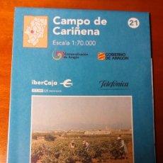 Mapas contemporáneos: MAPAS COMARCALES DE ARAGON - MAPA Nº 21 CAMPO DE CARIÑENA - ESCALA 1.70.000 - SIN ESTRENAR. Lote 86762744