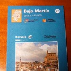 Mapas contemporáneos: MAPAS COMARCALES DE ARAGON - MAPA Nº 23 BAJO MARTIN- ESCALA 1.70.000 - SIN ESTRENAR. Lote 86762812