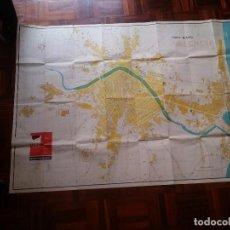 Mapas contemporáneos: GRAN PLANO DE VALENCIA, EDICIÓN AÑO 1969. . Lote 86988992