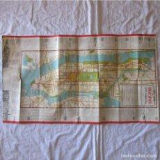 Mapas contemporáneos: MAPA DE NEW YORK NUEVA YORK. PRIMEROS AÑOS DEL SIGLO XX. GUÍA DE VISITANTES. Lote 88988076
