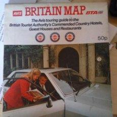 Mapas contemporáneos: BRITAIN MAP - AVIS/BTA 1981. Lote 89488124