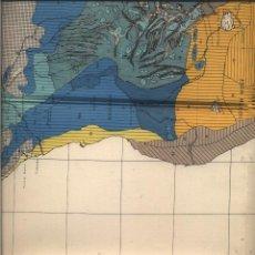 Mapas contemporáneos: MAPA LA CUBIERTA HERBACEA DE AFRICA 1960 BUEN ESTADO 90 X 80 CM. Lote 92121880
