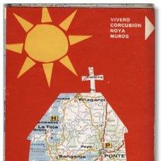 Mapas contemporáneos: MAPA TURÍSTICO FIRESTONE RÍAS GALLEGAS, 1967. Lote 92308785