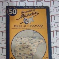 Mapas contemporáneos - (ALB-TC-8) ANTIGUO MAPA NEUMATICOS MICHELIN CADIZ GRANADA Y MARRUECOS Nº 50 - 92876110