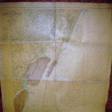 Mapas contemporáneos: ANTIGUO MAPA DEL PUERTO DE BARCELONA AÑO 1968 INSTITUTO HIDROGRAFICO DE LA MARINA .120/8O CM. Lote 93198915