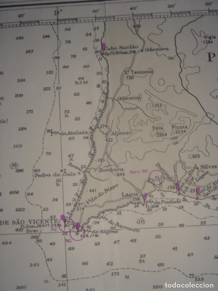 Mapas contemporáneos: CARTA NAÚTICA CABO SAN VICENTE, HUELVA, GIBRALTAR, MARRUECOS, LONDRES, 1973, ALMIRANTAZGO BRITÁNICO - Foto 5 - 120691322