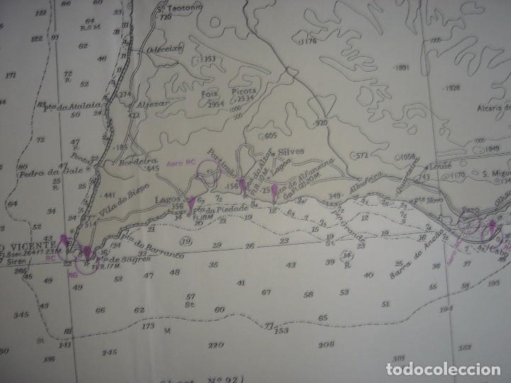 Mapas contemporáneos: CARTA NAÚTICA CABO SAN VICENTE, HUELVA, GIBRALTAR, MARRUECOS, LONDRES, 1973, ALMIRANTAZGO BRITÁNICO - Foto 6 - 120691322