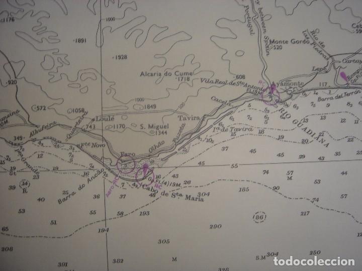 Mapas contemporáneos: CARTA NAÚTICA CABO SAN VICENTE, HUELVA, GIBRALTAR, MARRUECOS, LONDRES, 1973, ALMIRANTAZGO BRITÁNICO - Foto 7 - 120691322