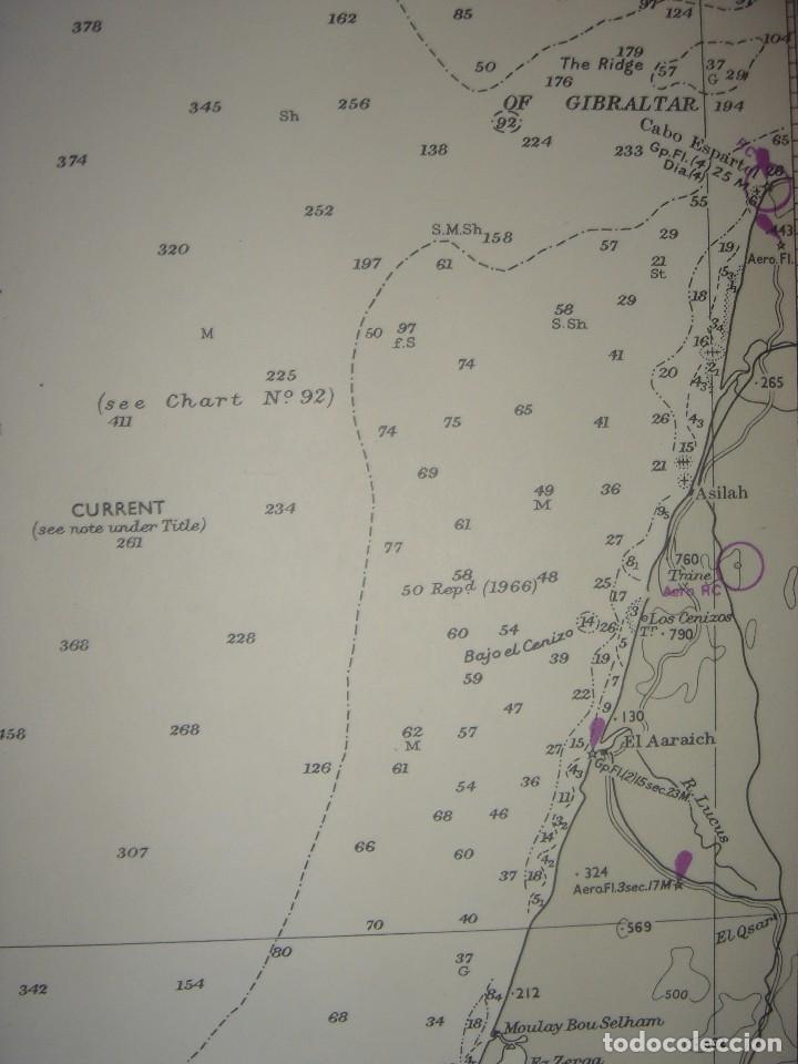 Mapas contemporáneos: CARTA NAÚTICA CABO SAN VICENTE, HUELVA, GIBRALTAR, MARRUECOS, LONDRES, 1973, ALMIRANTAZGO BRITÁNICO - Foto 9 - 120691322