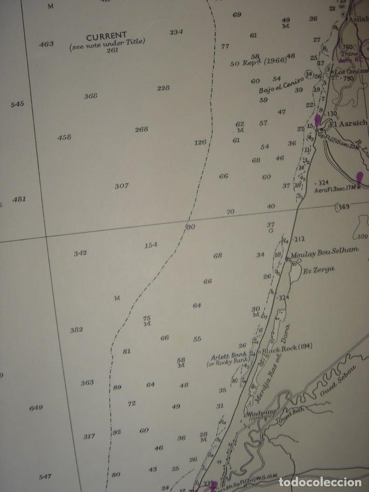 Mapas contemporáneos: CARTA NAÚTICA CABO SAN VICENTE, HUELVA, GIBRALTAR, MARRUECOS, LONDRES, 1973, ALMIRANTAZGO BRITÁNICO - Foto 11 - 120691322