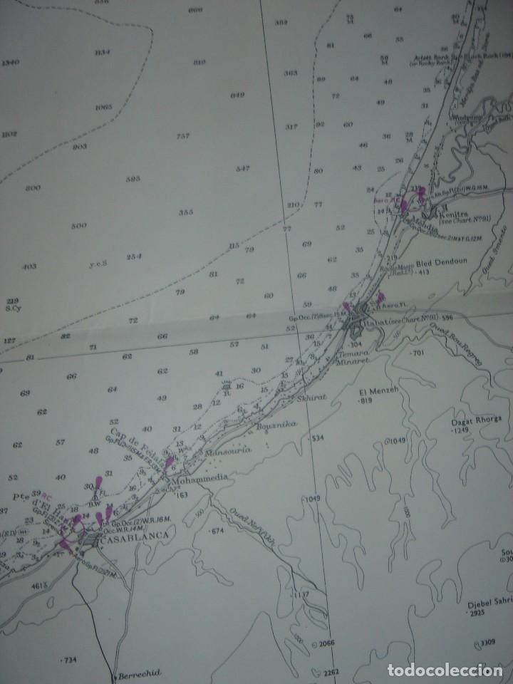 Mapas contemporáneos: CARTA NAÚTICA CABO SAN VICENTE, HUELVA, GIBRALTAR, MARRUECOS, LONDRES, 1973, ALMIRANTAZGO BRITÁNICO - Foto 12 - 120691322