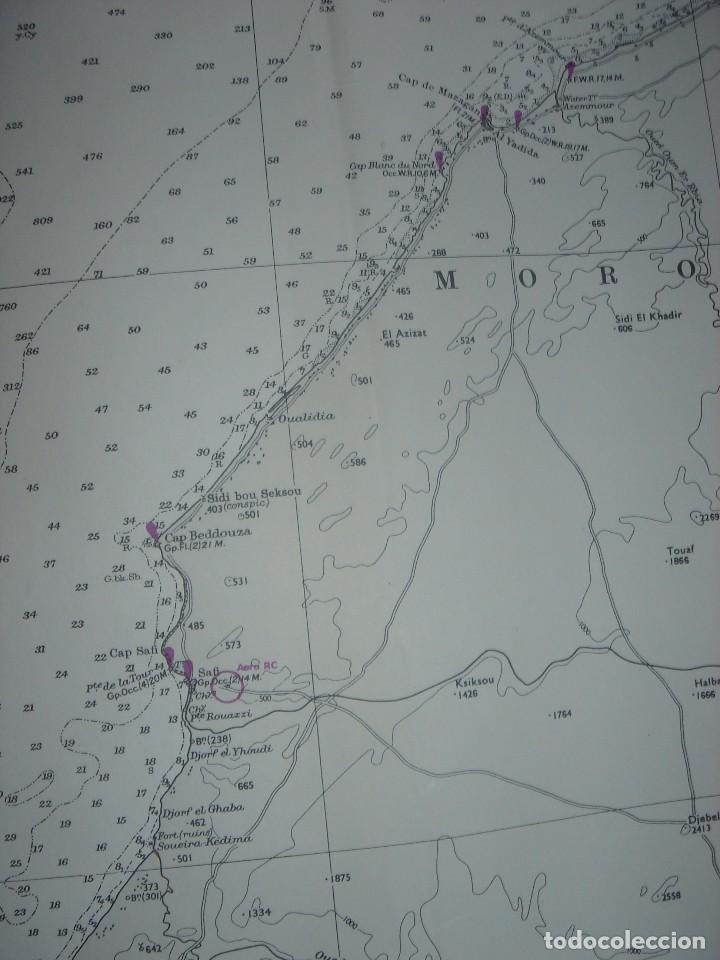 Mapas contemporáneos: CARTA NAÚTICA CABO SAN VICENTE, HUELVA, GIBRALTAR, MARRUECOS, LONDRES, 1973, ALMIRANTAZGO BRITÁNICO - Foto 13 - 120691322