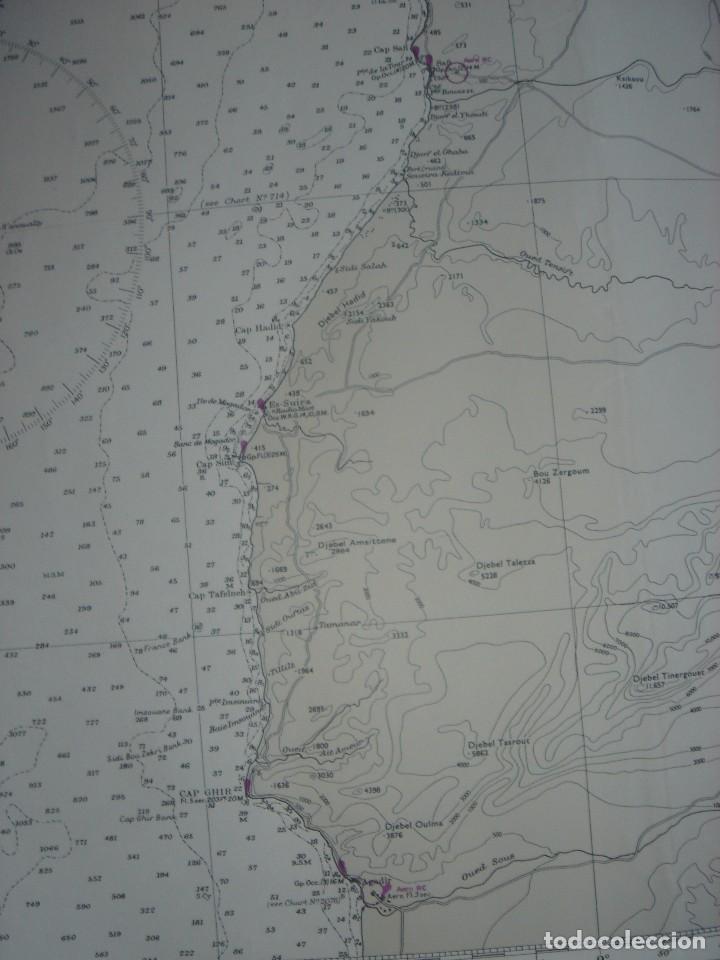 Mapas contemporáneos: CARTA NAÚTICA CABO SAN VICENTE, HUELVA, GIBRALTAR, MARRUECOS, LONDRES, 1973, ALMIRANTAZGO BRITÁNICO - Foto 14 - 120691322
