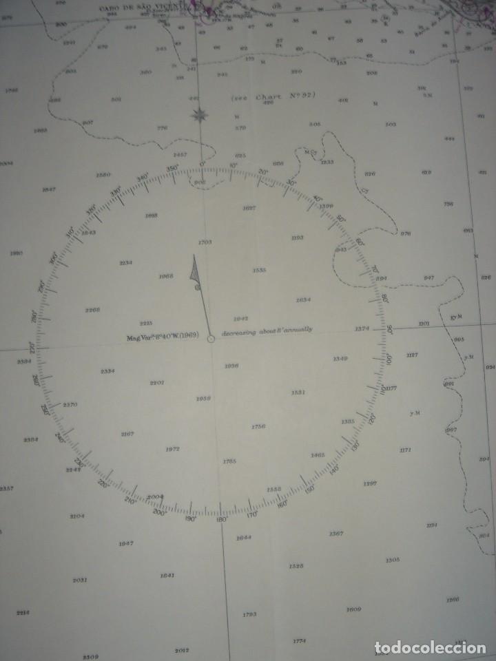 Mapas contemporáneos: CARTA NAÚTICA CABO SAN VICENTE, HUELVA, GIBRALTAR, MARRUECOS, LONDRES, 1973, ALMIRANTAZGO BRITÁNICO - Foto 15 - 120691322