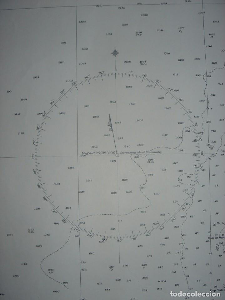 Mapas contemporáneos: CARTA NAÚTICA CABO SAN VICENTE, HUELVA, GIBRALTAR, MARRUECOS, LONDRES, 1973, ALMIRANTAZGO BRITÁNICO - Foto 16 - 120691322