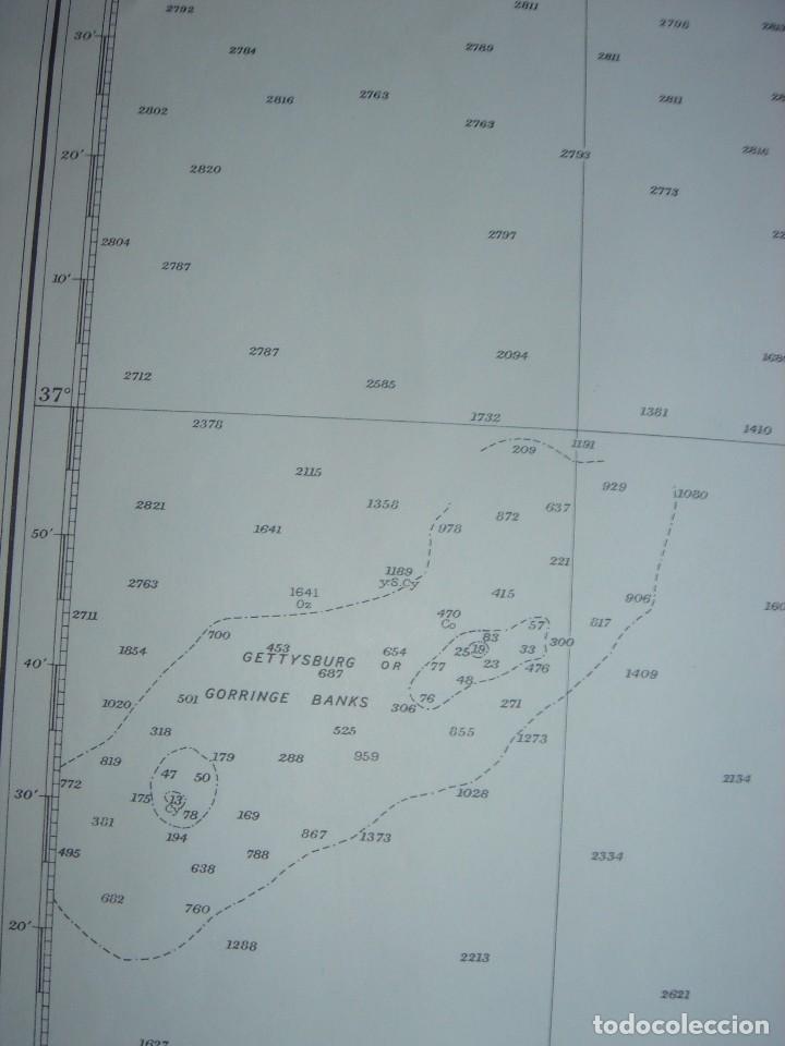 Mapas contemporáneos: CARTA NAÚTICA CABO SAN VICENTE, HUELVA, GIBRALTAR, MARRUECOS, LONDRES, 1973, ALMIRANTAZGO BRITÁNICO - Foto 17 - 120691322