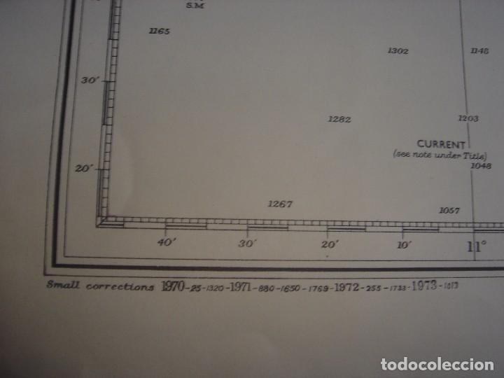 Mapas contemporáneos: CARTA NAÚTICA CABO SAN VICENTE, HUELVA, GIBRALTAR, MARRUECOS, LONDRES, 1973, ALMIRANTAZGO BRITÁNICO - Foto 18 - 120691322