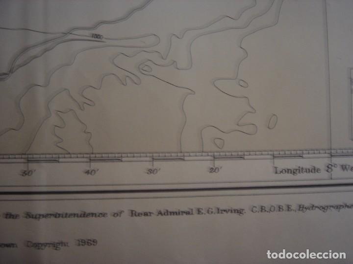 Mapas contemporáneos: CARTA NAÚTICA CABO SAN VICENTE, HUELVA, GIBRALTAR, MARRUECOS, LONDRES, 1973, ALMIRANTAZGO BRITÁNICO - Foto 20 - 120691322
