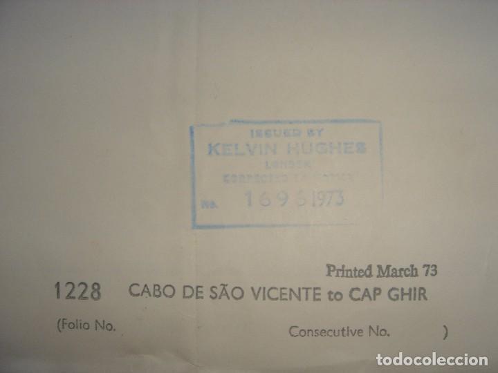 Mapas contemporáneos: CARTA NAÚTICA CABO SAN VICENTE, HUELVA, GIBRALTAR, MARRUECOS, LONDRES, 1973, ALMIRANTAZGO BRITÁNICO - Foto 25 - 120691322