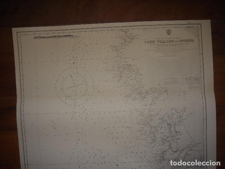 Mapas contemporáneos: CARTA NAÚTICA CABO VILLANO, GALICIA, OPORTO, PORTUGAL, LONDRES, 1958, ALMIRANTAZGO BRITÁNICO - Foto 2 - 94135860