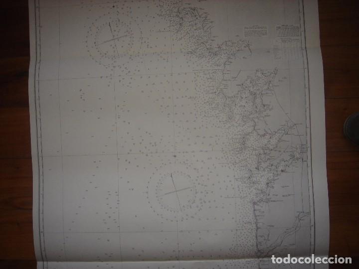 Mapas contemporáneos: CARTA NAÚTICA CABO VILLANO, GALICIA, OPORTO, PORTUGAL, LONDRES, 1958, ALMIRANTAZGO BRITÁNICO - Foto 3 - 94135860