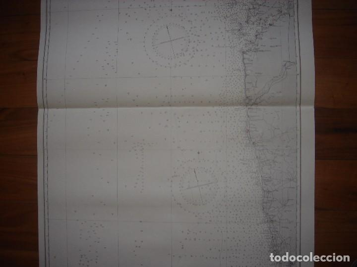 Mapas contemporáneos: CARTA NAÚTICA CABO VILLANO, GALICIA, OPORTO, PORTUGAL, LONDRES, 1958, ALMIRANTAZGO BRITÁNICO - Foto 4 - 94135860