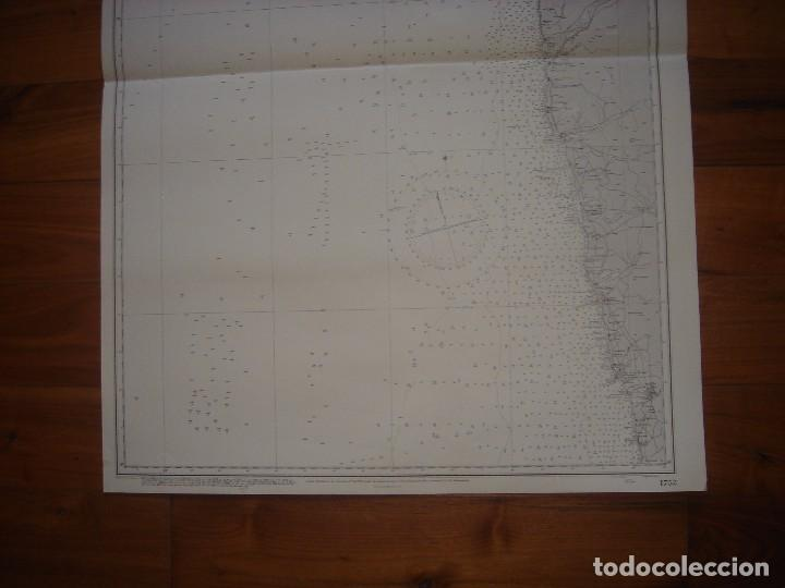 Mapas contemporáneos: CARTA NAÚTICA CABO VILLANO, GALICIA, OPORTO, PORTUGAL, LONDRES, 1958, ALMIRANTAZGO BRITÁNICO - Foto 5 - 94135860