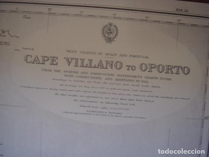 Mapas contemporáneos: CARTA NAÚTICA CABO VILLANO, GALICIA, OPORTO, PORTUGAL, LONDRES, 1958, ALMIRANTAZGO BRITÁNICO - Foto 6 - 94135860