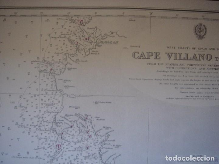 Mapas contemporáneos: CARTA NAÚTICA CABO VILLANO, GALICIA, OPORTO, PORTUGAL, LONDRES, 1958, ALMIRANTAZGO BRITÁNICO - Foto 7 - 94135860