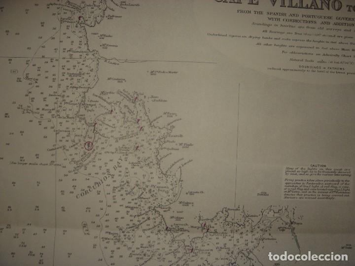Mapas contemporáneos: CARTA NAÚTICA CABO VILLANO, GALICIA, OPORTO, PORTUGAL, LONDRES, 1958, ALMIRANTAZGO BRITÁNICO - Foto 8 - 94135860
