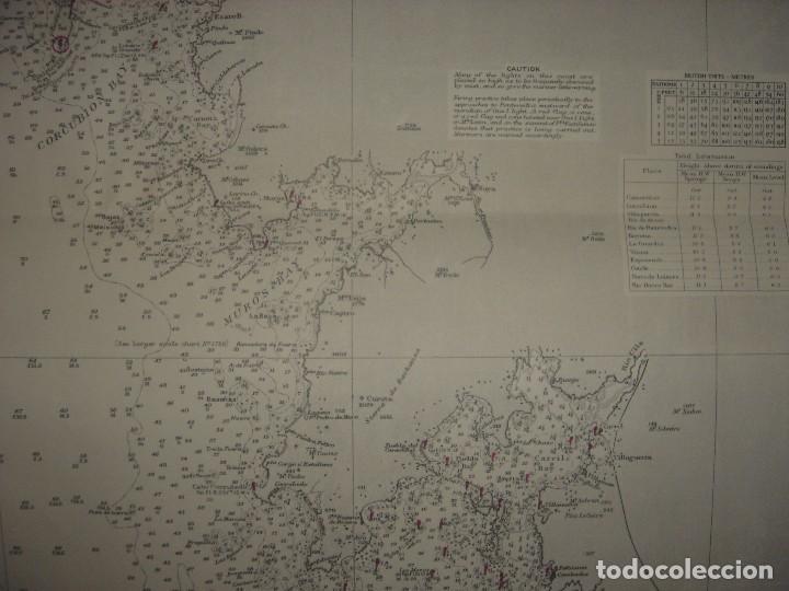 Mapas contemporáneos: CARTA NAÚTICA CABO VILLANO, GALICIA, OPORTO, PORTUGAL, LONDRES, 1958, ALMIRANTAZGO BRITÁNICO - Foto 9 - 94135860