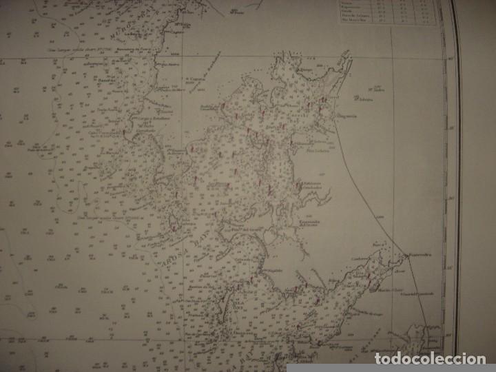 Mapas contemporáneos: CARTA NAÚTICA CABO VILLANO, GALICIA, OPORTO, PORTUGAL, LONDRES, 1958, ALMIRANTAZGO BRITÁNICO - Foto 10 - 94135860