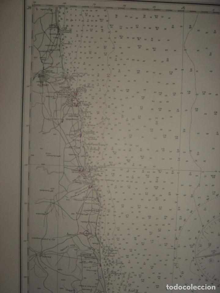 Mapas contemporáneos: CARTA NAÚTICA CABO VILLANO, GALICIA, OPORTO, PORTUGAL, LONDRES, 1958, ALMIRANTAZGO BRITÁNICO - Foto 14 - 94135860