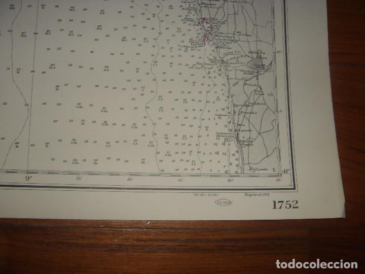 Mapas contemporáneos: CARTA NAÚTICA CABO VILLANO, GALICIA, OPORTO, PORTUGAL, LONDRES, 1958, ALMIRANTAZGO BRITÁNICO - Foto 22 - 94135860