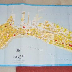 Mapas contemporáneos: PLANO CALLEJERO DE CÁDIZ. PLANO DESPLEGABLE. EDITORIAL EVEREST.. Lote 94639611