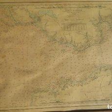 Mapas contemporáneos: EL ESTRECHO DE GIBRALTAR EN 1965 SEGÚN EL INSTITUTO HIDROGRAFICO DE LA MARINA. Lote 95223623