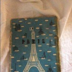 Mapas contemporáneos: MAPA Y GUIA ANTIGUA DE PARIS. Lote 95996959