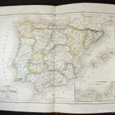 Mapas contemporáneos: ATLAS DE ESPAÑA, PROVINCIAS Y ULTRAMAR. RAMÓN ALABERN Y E. MABÓN. AÑO 1853. LIBRERIA ESPAÑOLA. Lote 97380111