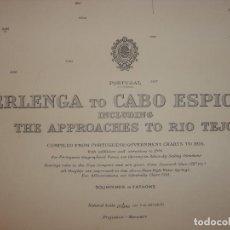Mapas contemporáneos: CARTA NAÚTICA ISLAS BERLENGAS A CABO ESPICHEL , PORTUGAL, LONDRES, 1956,ALMIRANTAZGO BRITÁNICO. Lote 97508351