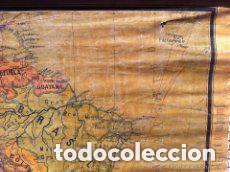 Mapas contemporáneos: MAPA AMERICA DEL SUR, PRINCIPIOS S.XX. PAPEL SOBRE TELA CON BASTIDOR DE MADERA. WAGNER DEBES LIPZIG. - Foto 2 - 97637699