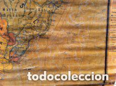Mapas contemporáneos: MAPA AMERICA DEL SUR, PRINCIPIOS S.XX. PAPEL SOBRE TELA CON BASTIDOR DE MADERA. WAGNER DEBES LIPZIG. - Foto 4 - 97637699