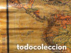 Mapas contemporáneos: MAPA AMERICA DEL SUR, PRINCIPIOS S.XX. PAPEL SOBRE TELA CON BASTIDOR DE MADERA. WAGNER DEBES LIPZIG. - Foto 5 - 97637699