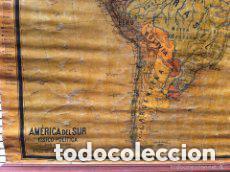 Mapas contemporáneos: MAPA AMERICA DEL SUR, PRINCIPIOS S.XX. PAPEL SOBRE TELA CON BASTIDOR DE MADERA. WAGNER DEBES LIPZIG. - Foto 6 - 97637699