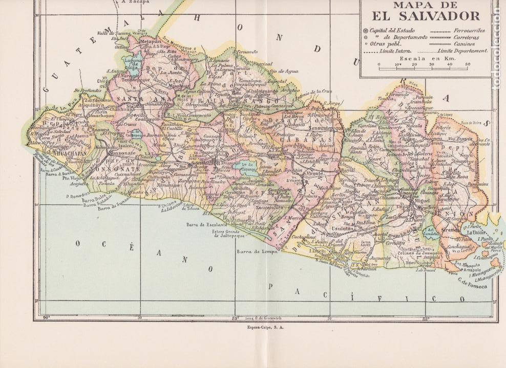 Mapa De El Salvador Kaufen Zeitgenössische Karten In Todocoleccion