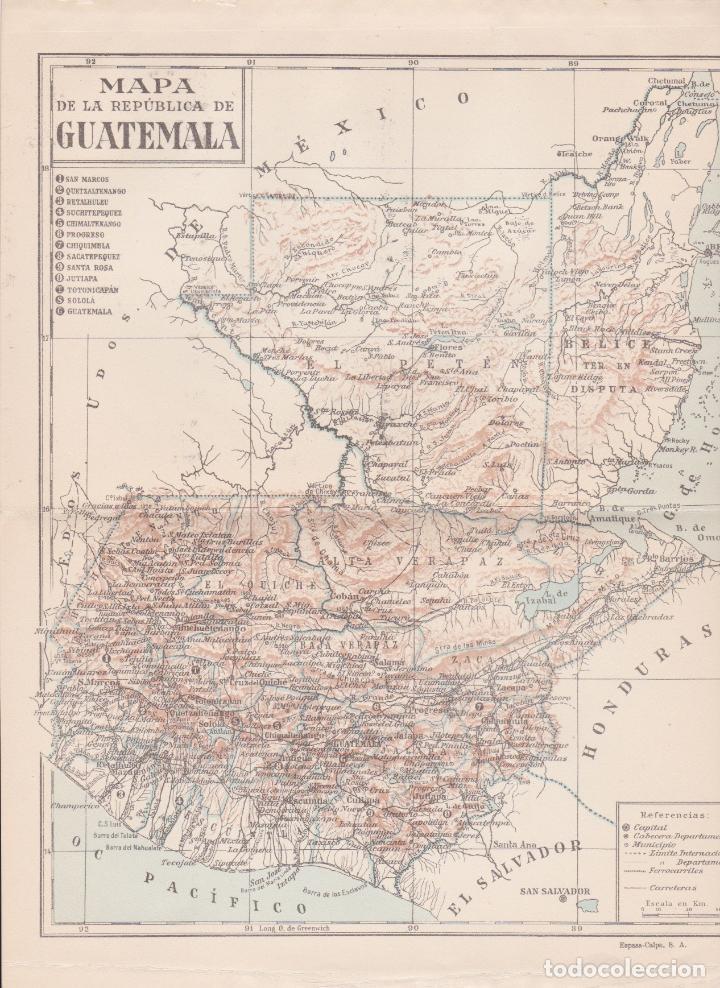 Mapa De La República De Guatemala Kaufen Zeitgenössische Karten In