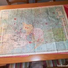 Mapas contemporáneos: BARCELONA Y SUS ALREDEDORES - MAPA ANTIGUO - AÑOS 20/30 - MEDIDAS; 90 X 65 CMS.. Lote 98127631